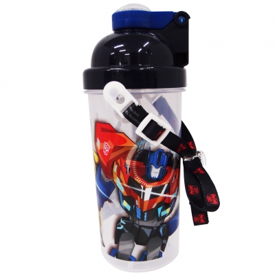 Transformers Power UpPop Up Bottle 650ml BPA Free