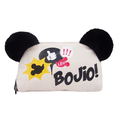 Mickey Go Local Canvas Cosmetic Pouch