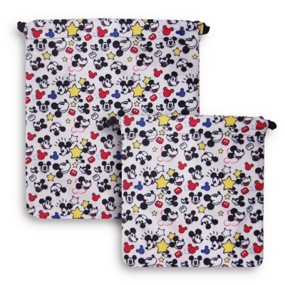 Mickey 90th Drawstring Pouch Set of 2