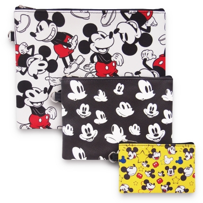 Mickey 90th Flat Pouch Set of 3