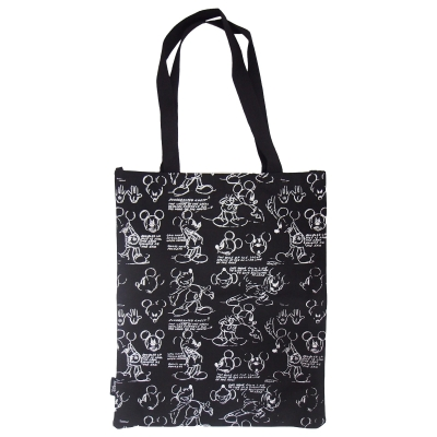 Mickey Share A Smile Canvas Tote Bag Black
