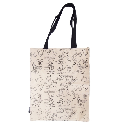 Mickey Share A Smile Canvas Tote Bag Khaki